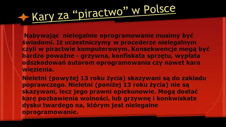 Kary za piractwo w Polsce