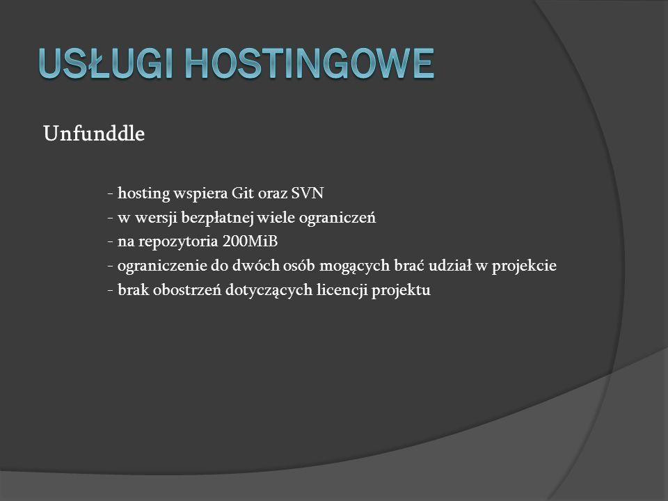 USŁUGI HOSTINGOWE Unfunddle - hosting wspiera Git oraz SVN