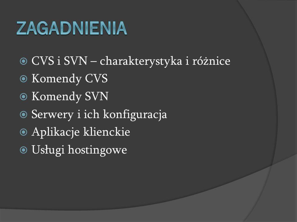 Zagadnienia CVS i SVN – charakterystyka i różnice Komendy CVS