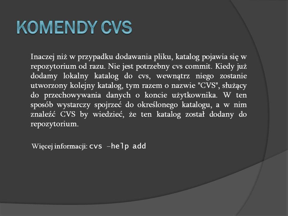 Komendy cvs