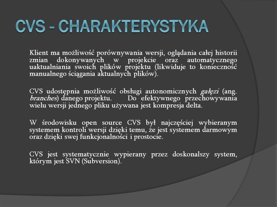 CVS - charakterystyka
