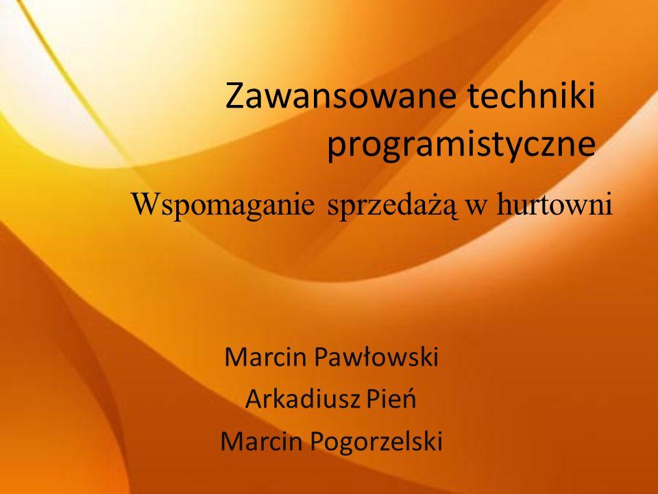 Zawansowane techniki programistyczne