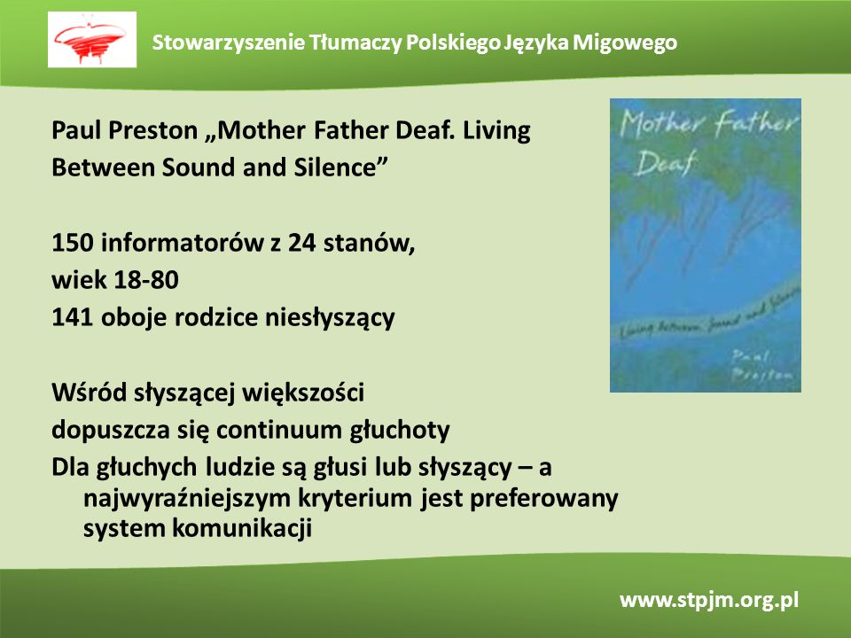 "Paul Preston ""Mother Father Deaf"