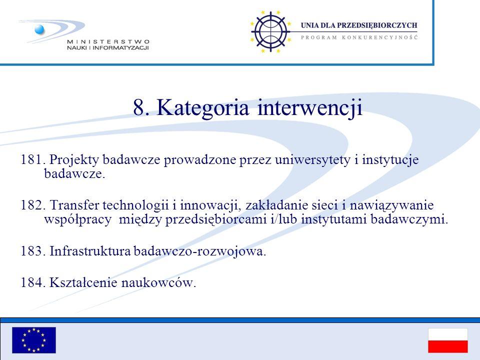 8. Kategoria interwencji