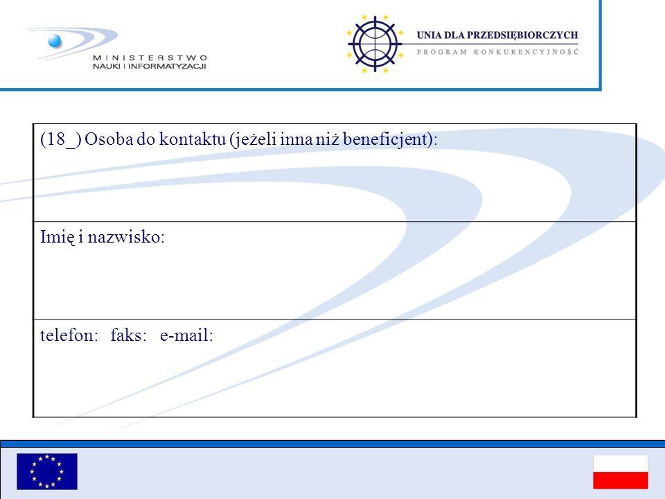 (18_) Osoba do kontaktu (jeżeli inna niż beneficjent):