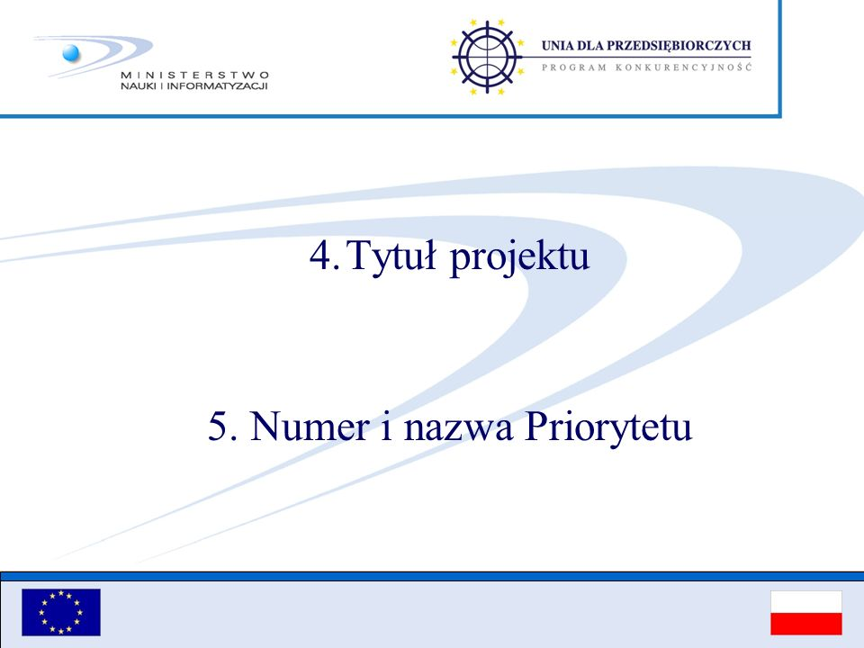 5. Numer i nazwa Priorytetu