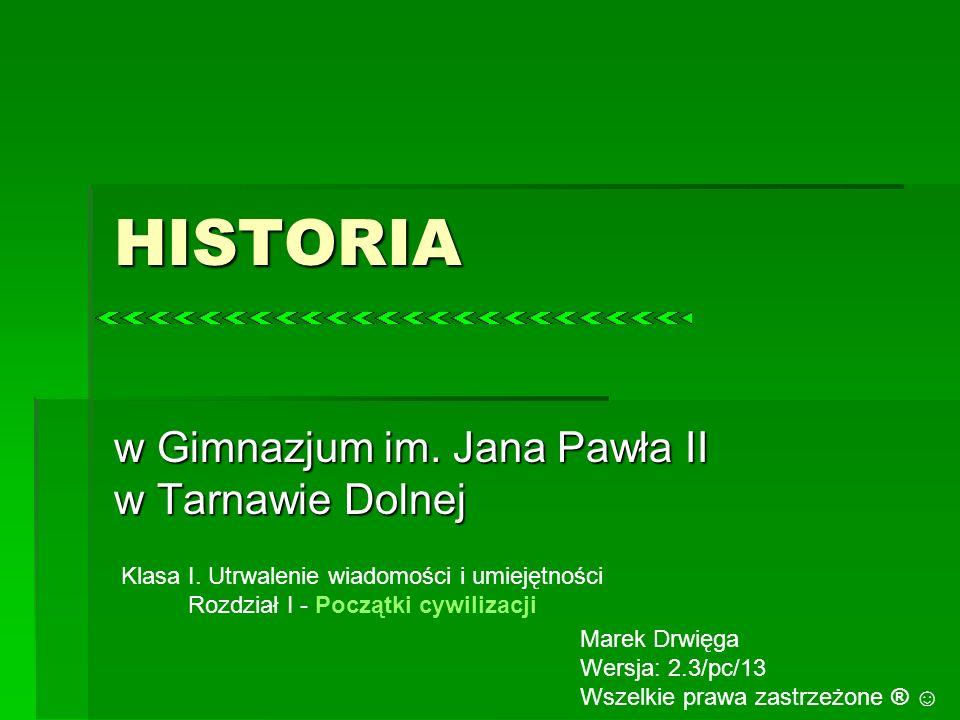 w Gimnazjum im. Jana Pawła II w Tarnawie Dolnej