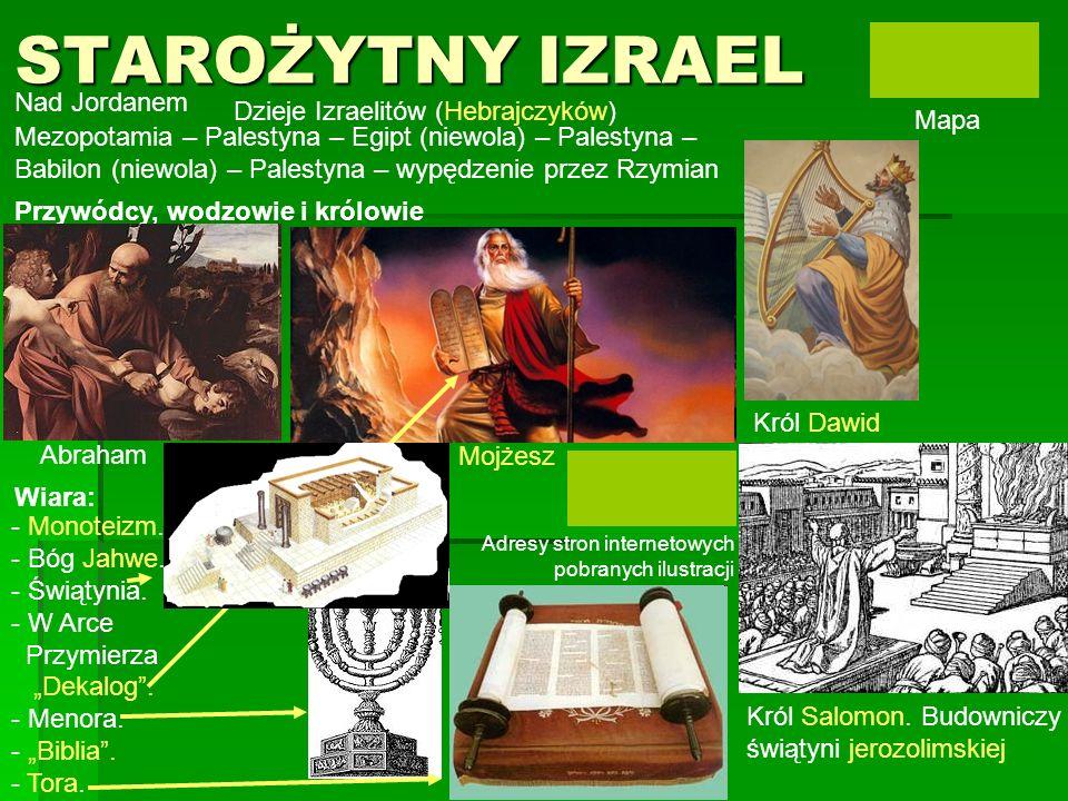 STAROŻYTNY IZRAEL Nad Jordanem Dzieje Izraelitów (Hebrajczyków) Mapa