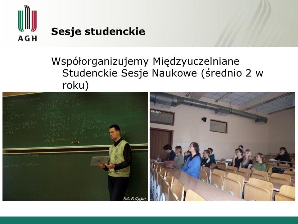Sesje studenckie Współorganizujemy Międzyuczelniane Studenckie Sesje Naukowe (średnio 2 w roku)