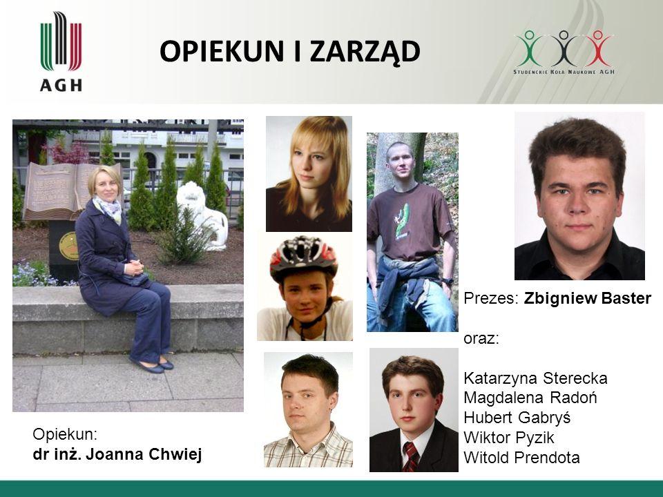 OPIEKUN I ZARZĄD Prezes: Zbigniew Baster oraz: Katarzyna Sterecka