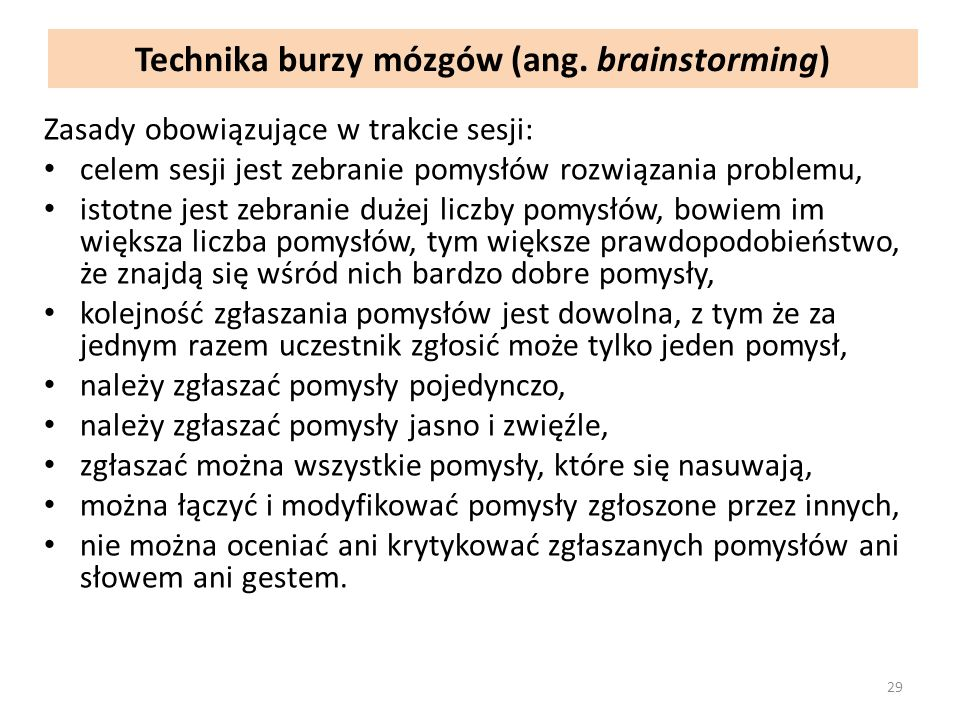 Technika burzy mózgów (ang. brainstorming)