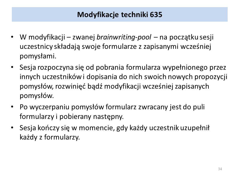 Modyfikacje techniki 635