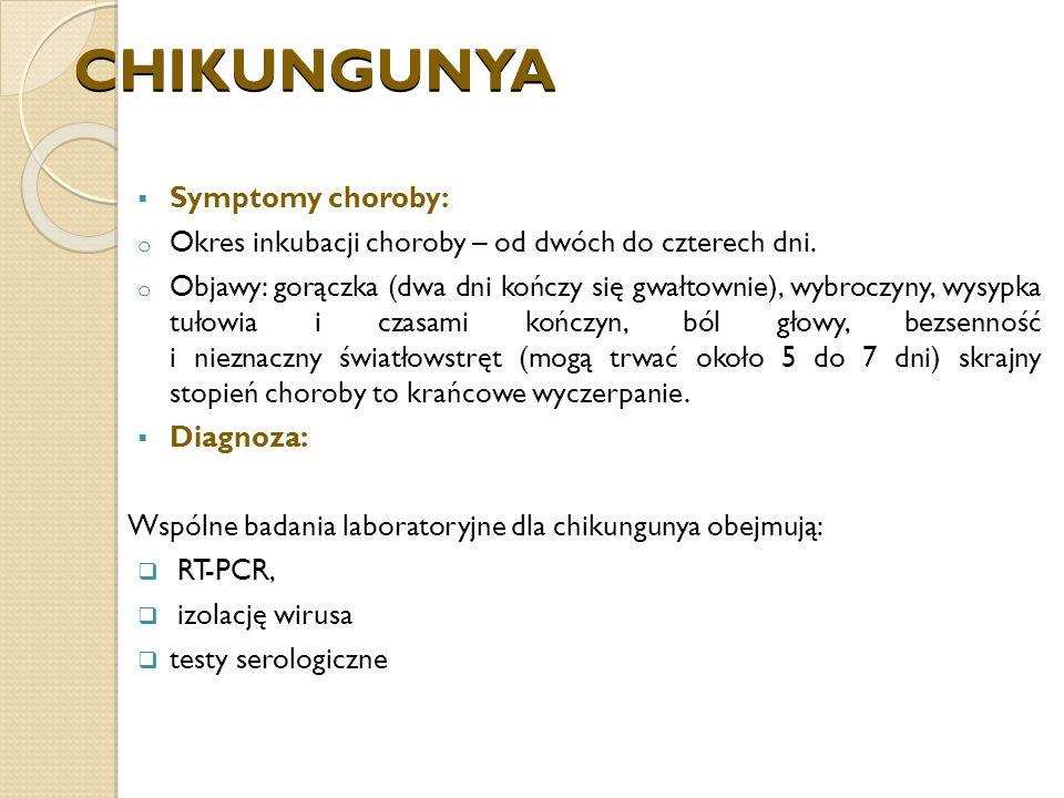 CHIKUNGUNYA Symptomy choroby: