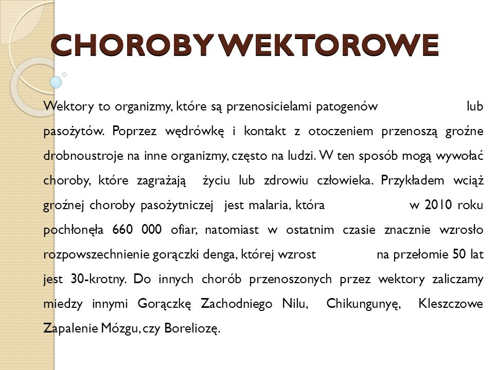 CHOROBY WEKTOROWE