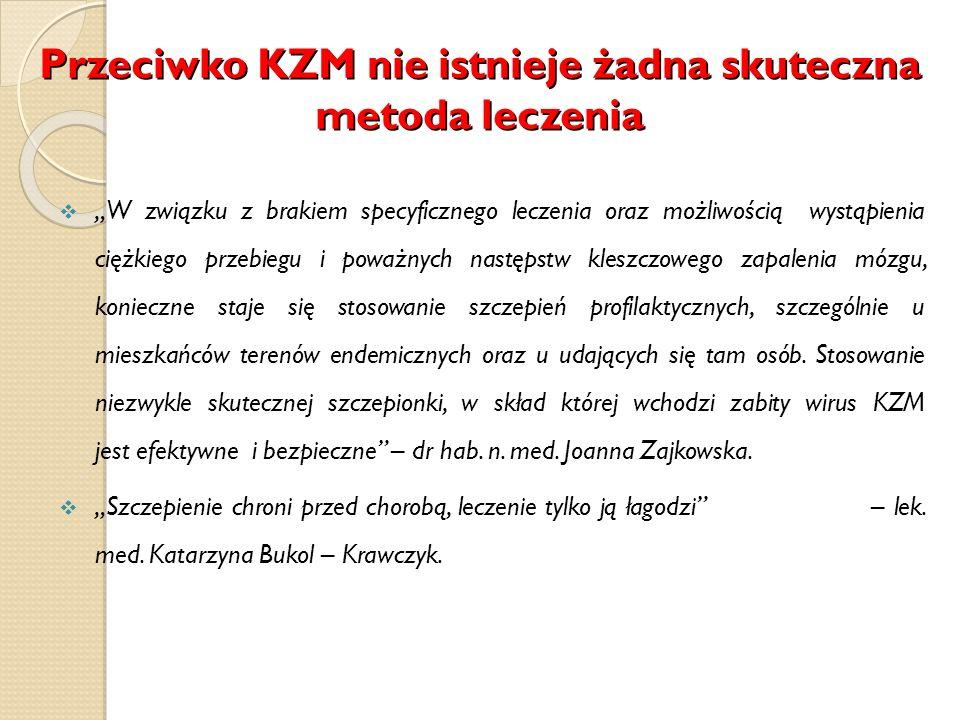 Przeciwko KZM nie istnieje żadna skuteczna metoda leczenia