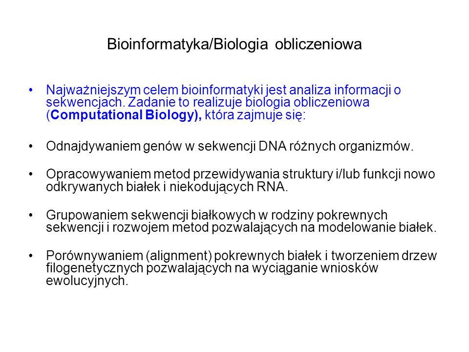 Bioinformatyka/Biologia obliczeniowa