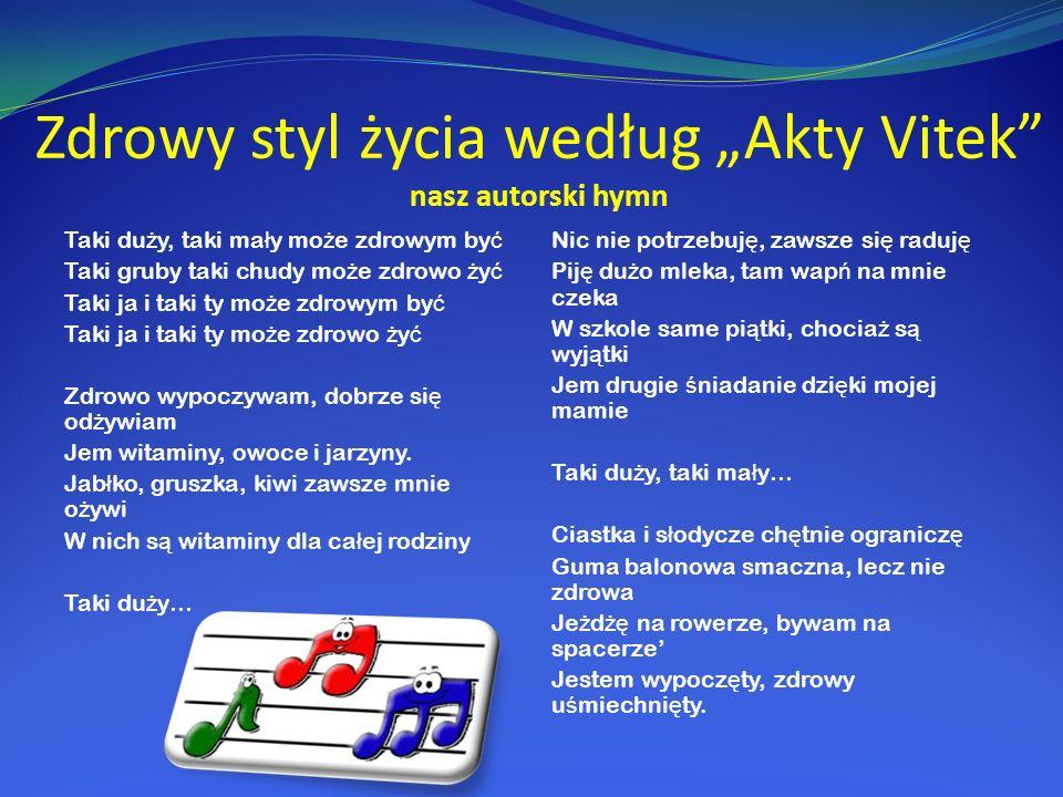 """Zdrowy styl życia według """"Akty Vitek nasz autorski hymn"""