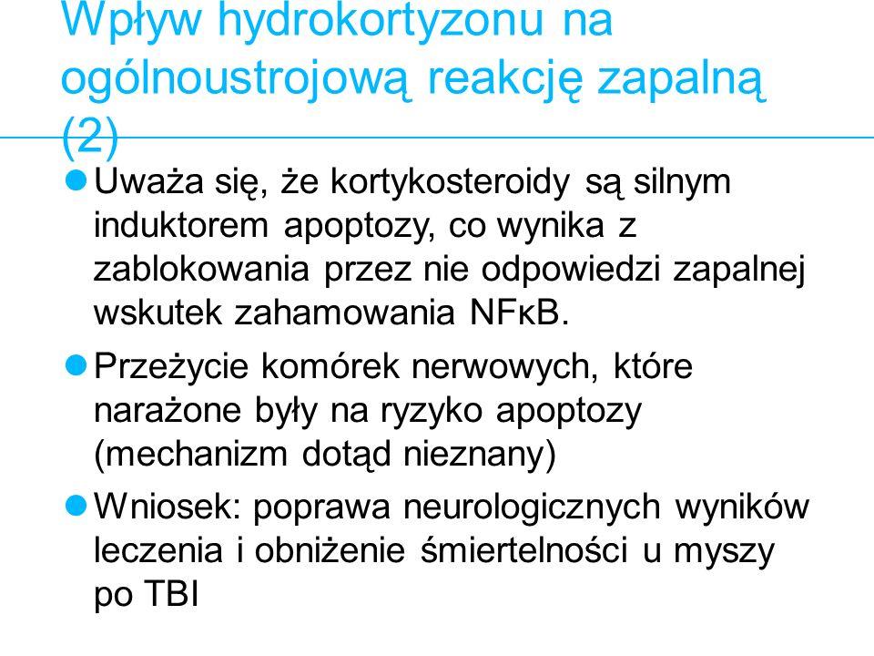 Wpływ hydrokortyzonu na ogólnoustrojową reakcję zapalną (2)