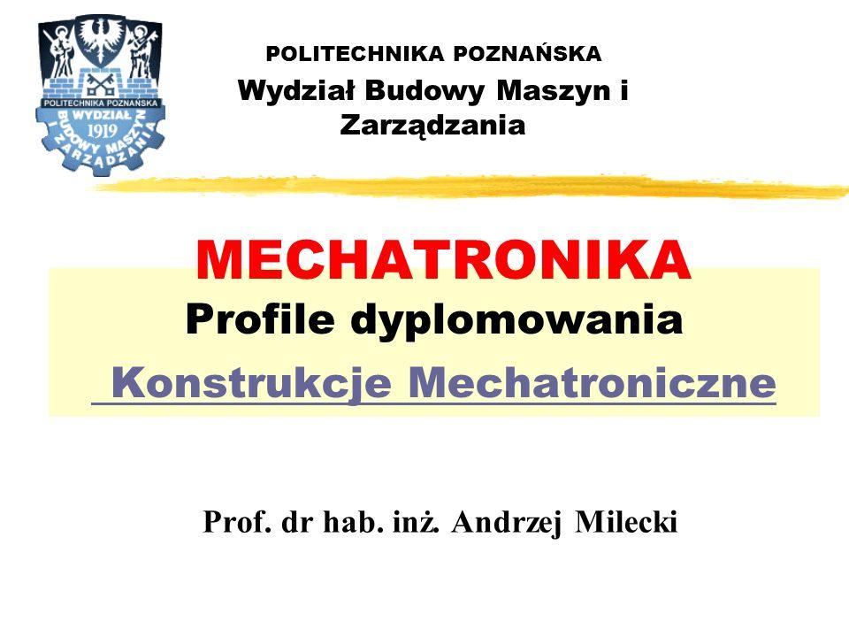 MECHATRONIKA Profile dyplomowania Konstrukcje Mechatroniczne
