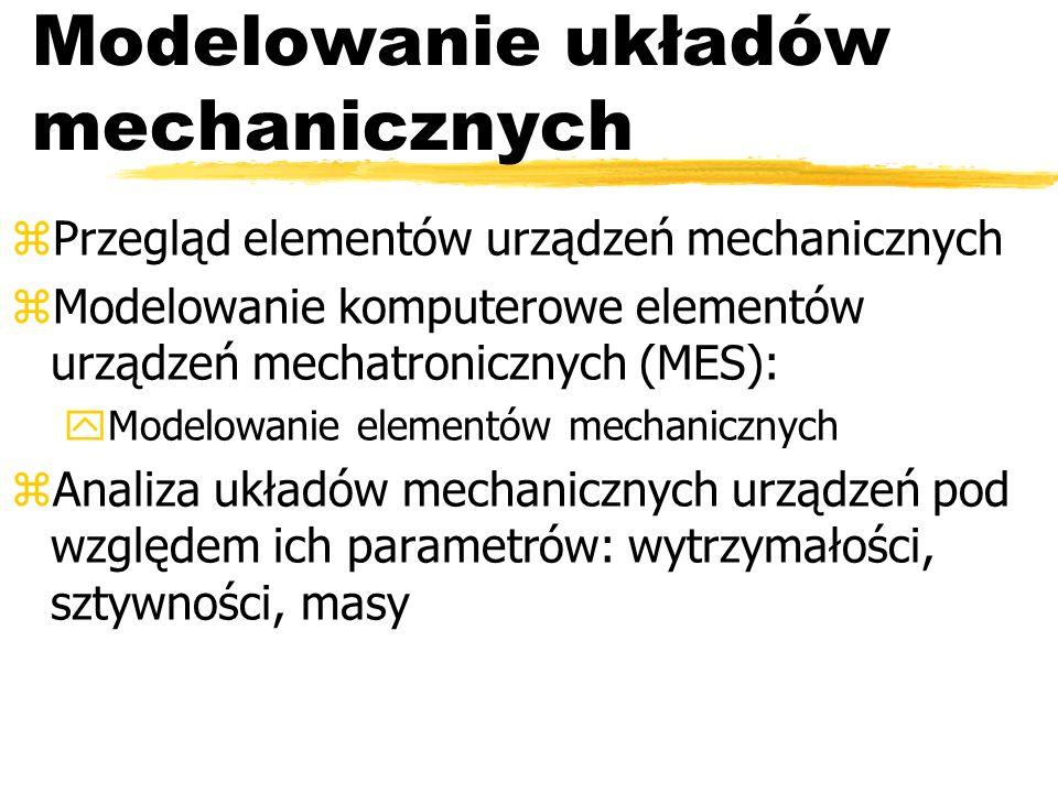 Modelowanie układów mechanicznych