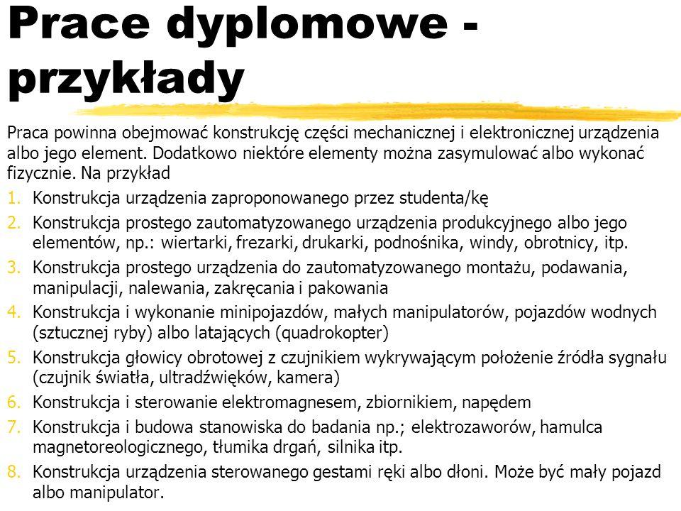 Prace dyplomowe - przykłady
