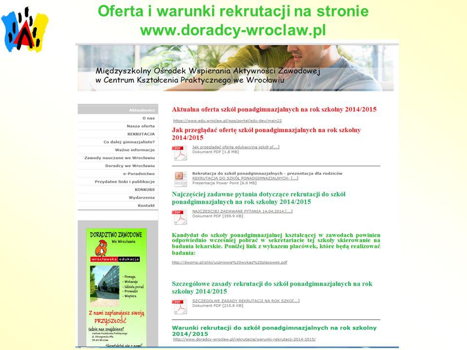 Oferta i warunki rekrutacji na stronie www.doradcy-wroclaw.pl