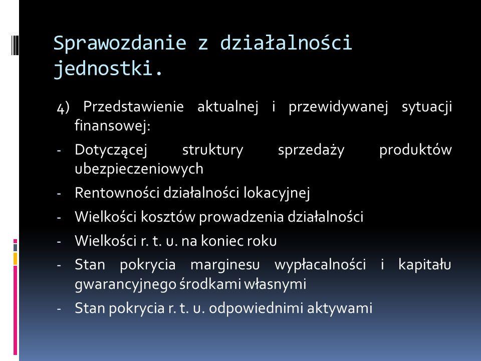 Sprawozdanie z działalności jednostki.