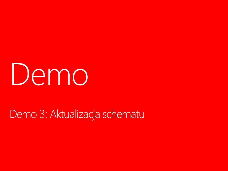 Demo 3: Aktualizacja schematu