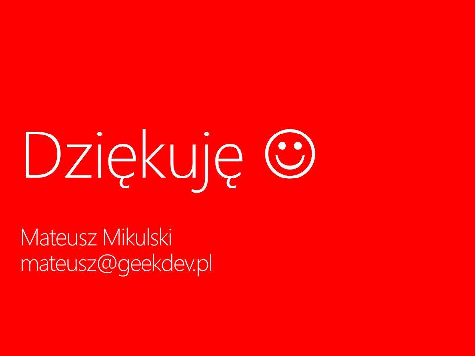 Mateusz Mikulski mateusz@geekdev.pl