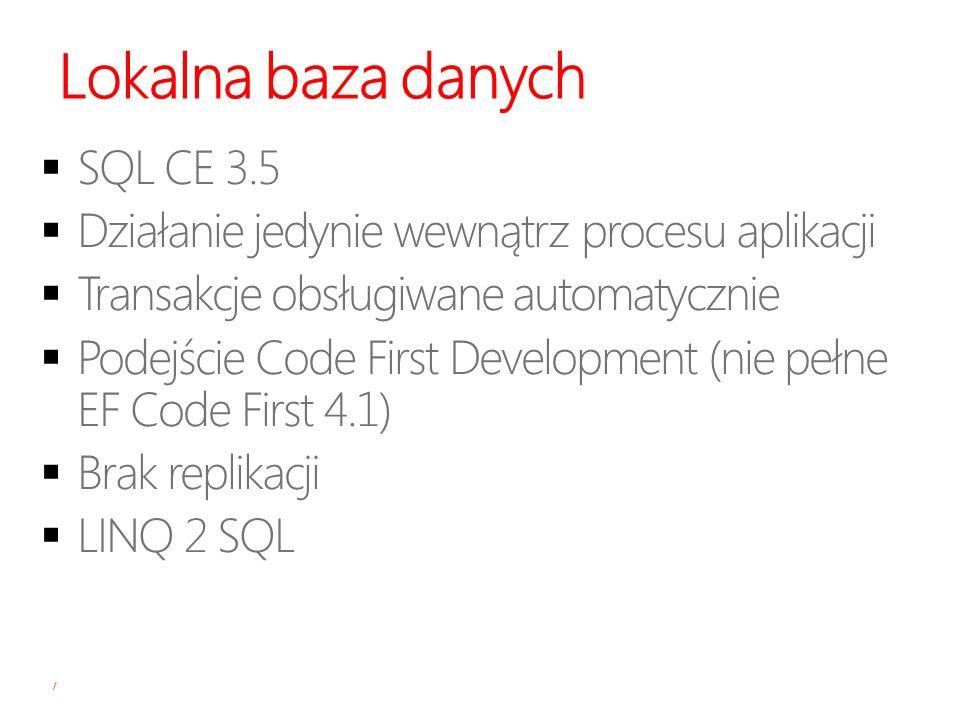Lokalna baza danych SQL CE 3.5