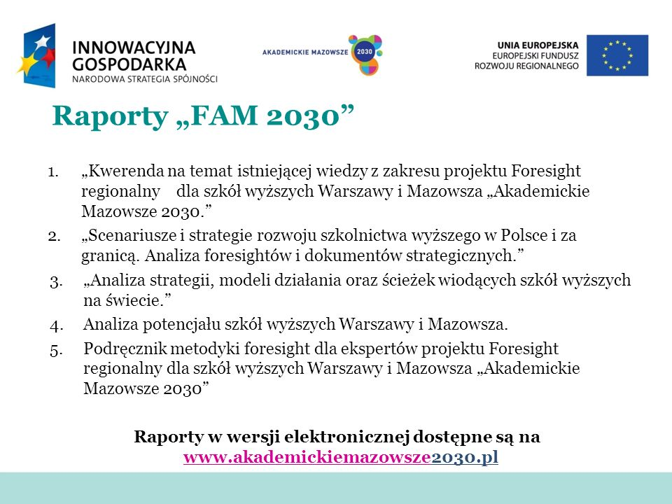 "Raporty ""FAM 2030"