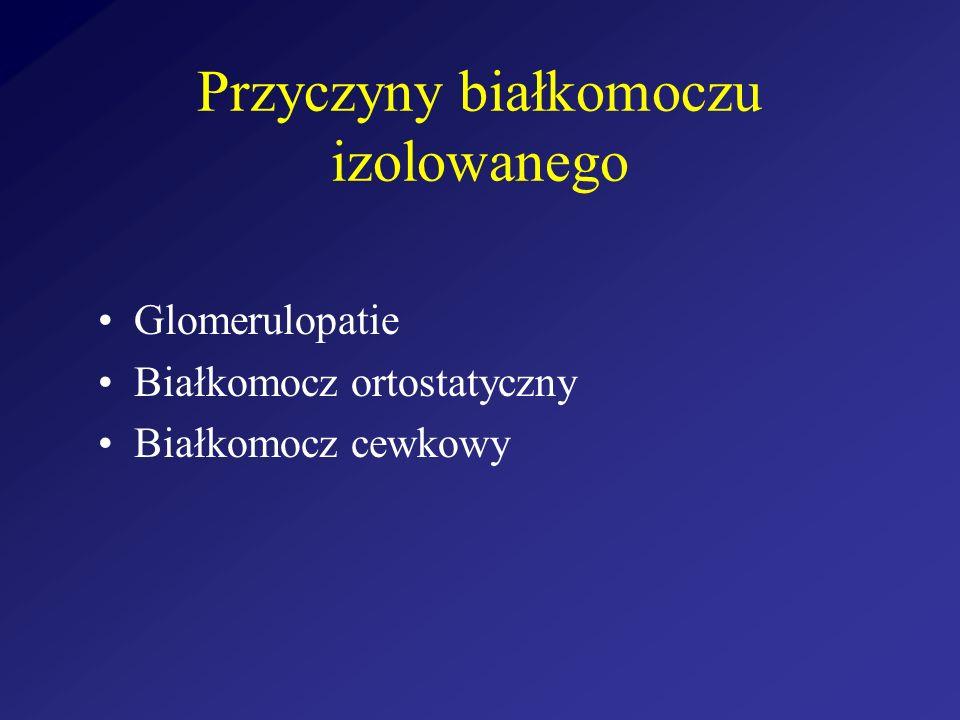 Przyczyny białkomoczu izolowanego