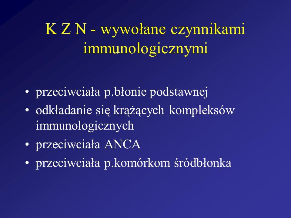 K Z N - wywołane czynnikami immunologicznymi