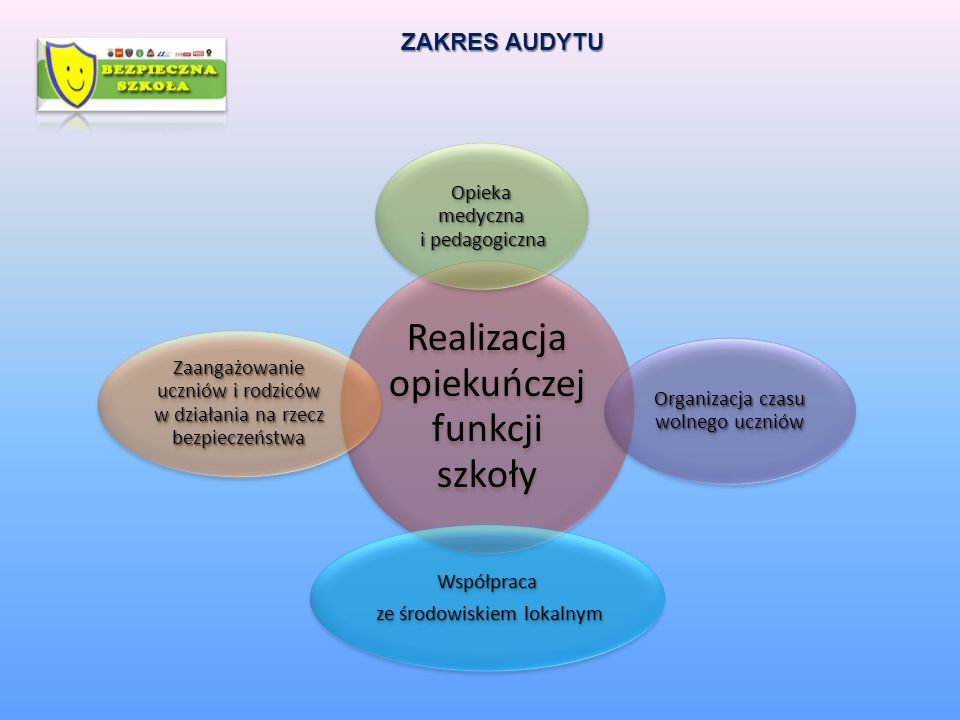 ZAKRES AUDYTU Współpraca Opieka medyczna i pedagogiczna