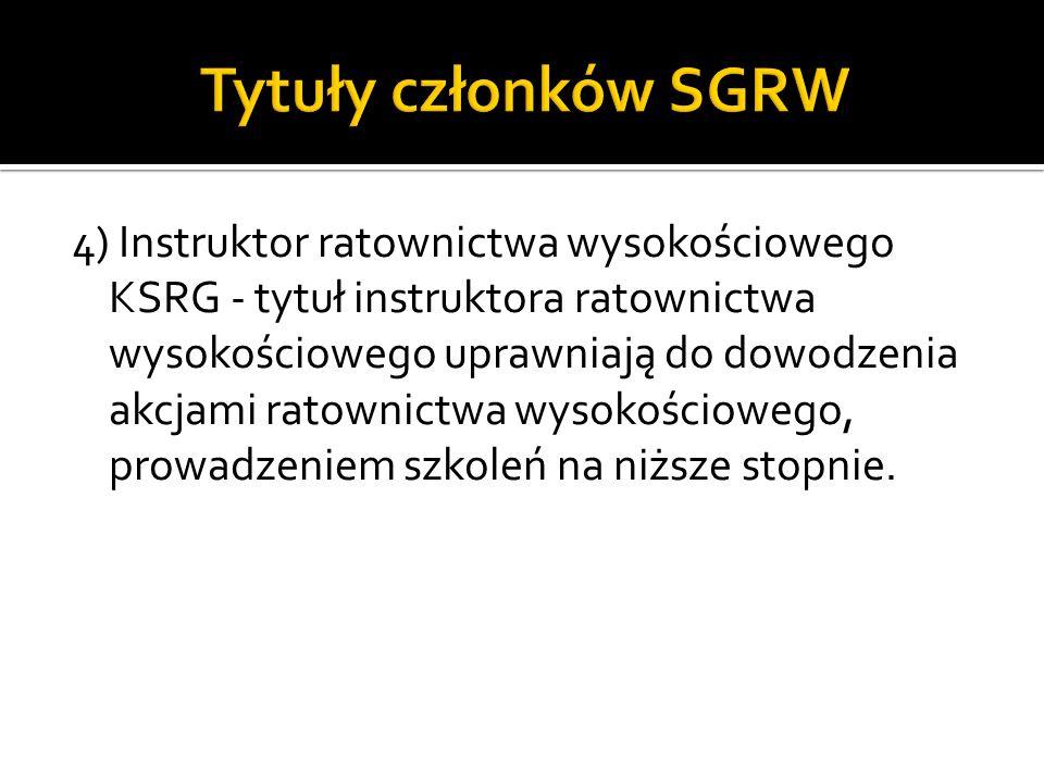Tytuły członków SGRW