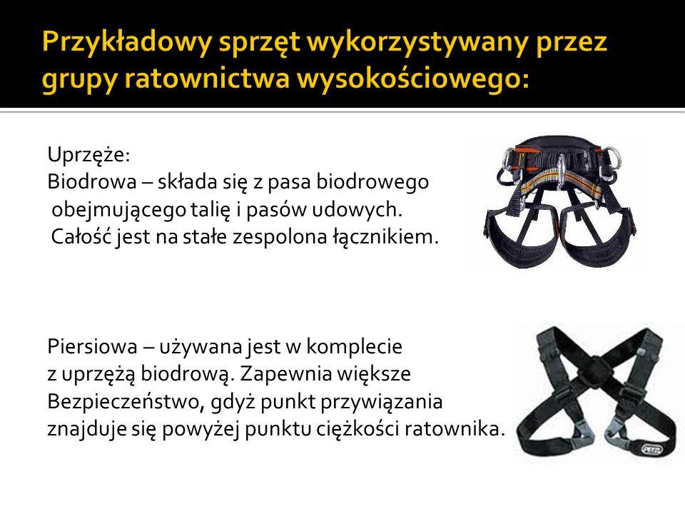 Przykładowy sprzęt wykorzystywany przez grupy ratownictwa wysokościowego: