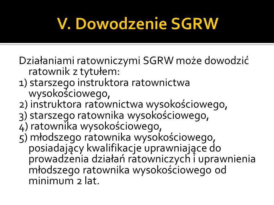 V. Dowodzenie SGRW