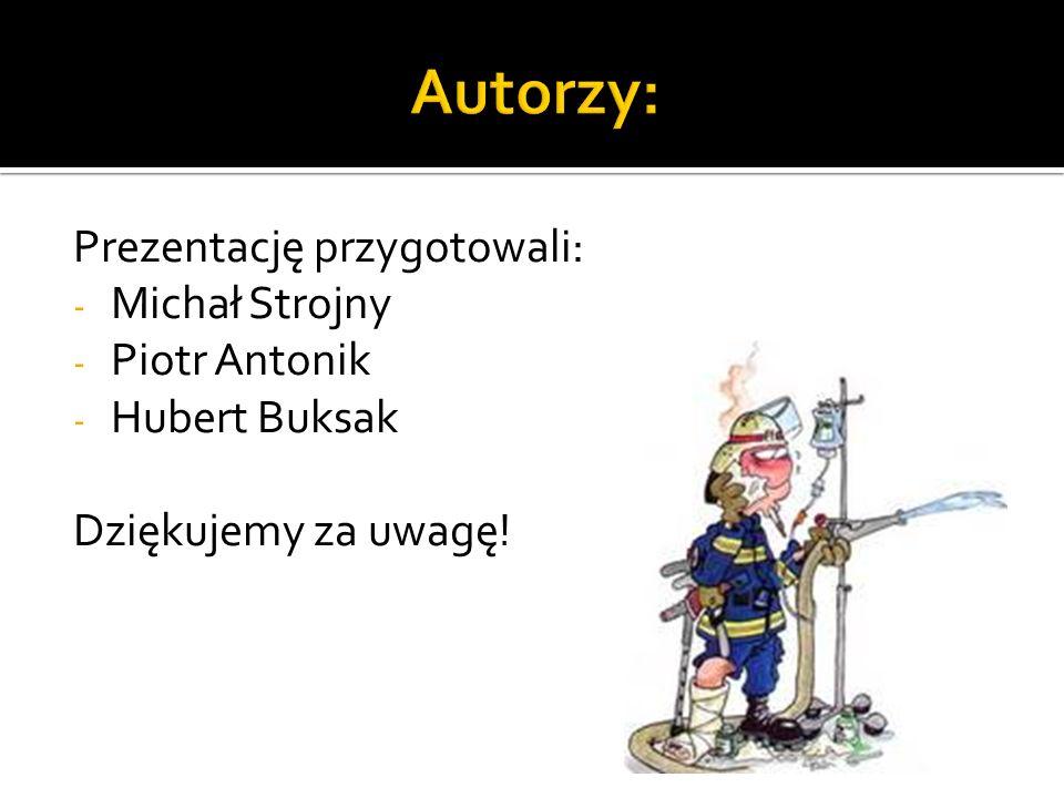 Autorzy: Prezentację przygotowali: Michał Strojny Piotr Antonik