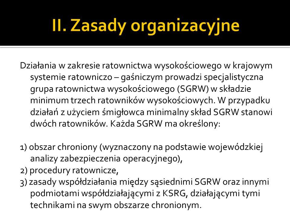 II. Zasady organizacyjne