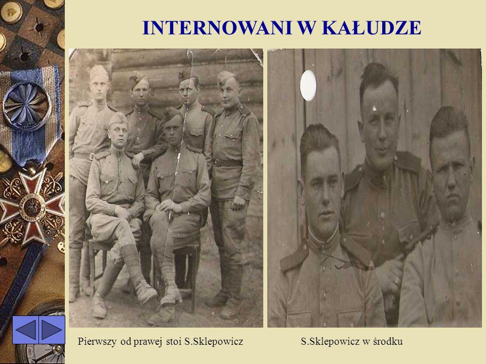 INTERNOWANI W KAŁUDZE Pierwszy od prawej stoi S.Sklepowicz