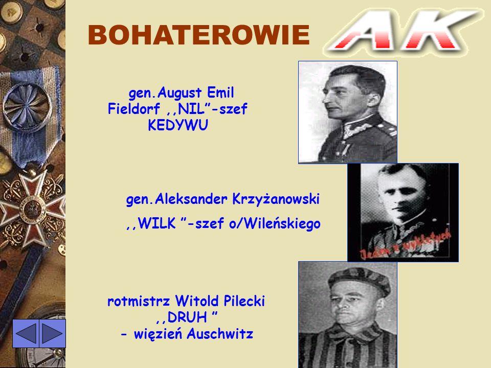 BOHATEROWIE gen.August Emil Fieldorf ,,NIL -szef KEDYWU