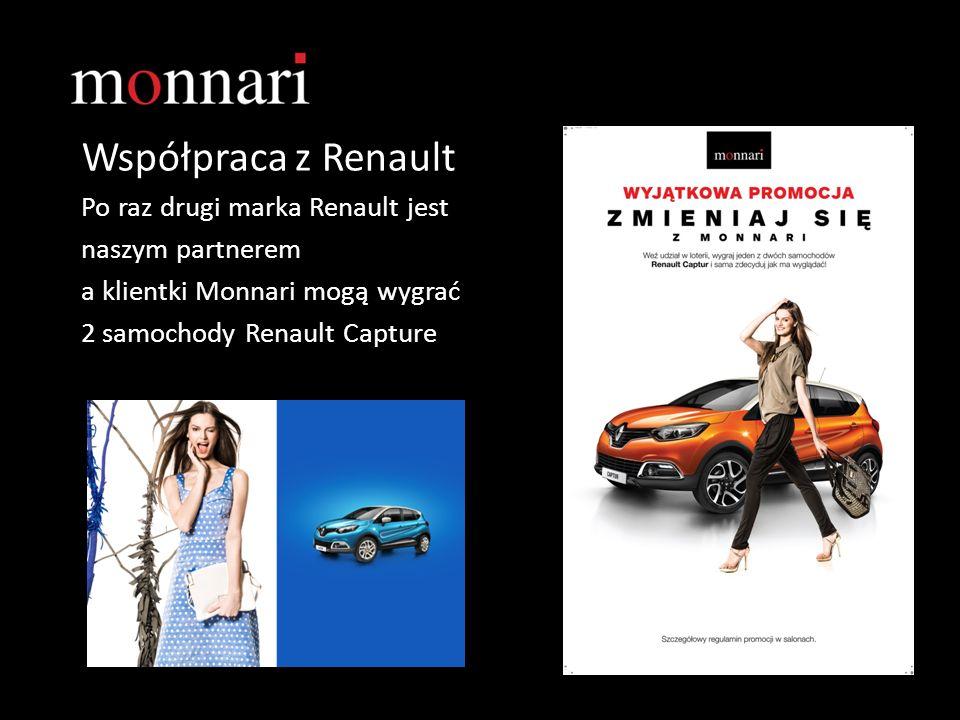 Współpraca z Renault Po raz drugi marka Renault jest naszym partnerem