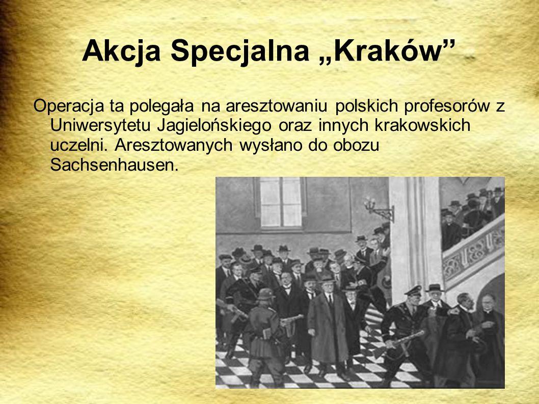 """Akcja Specjalna """"Kraków"""