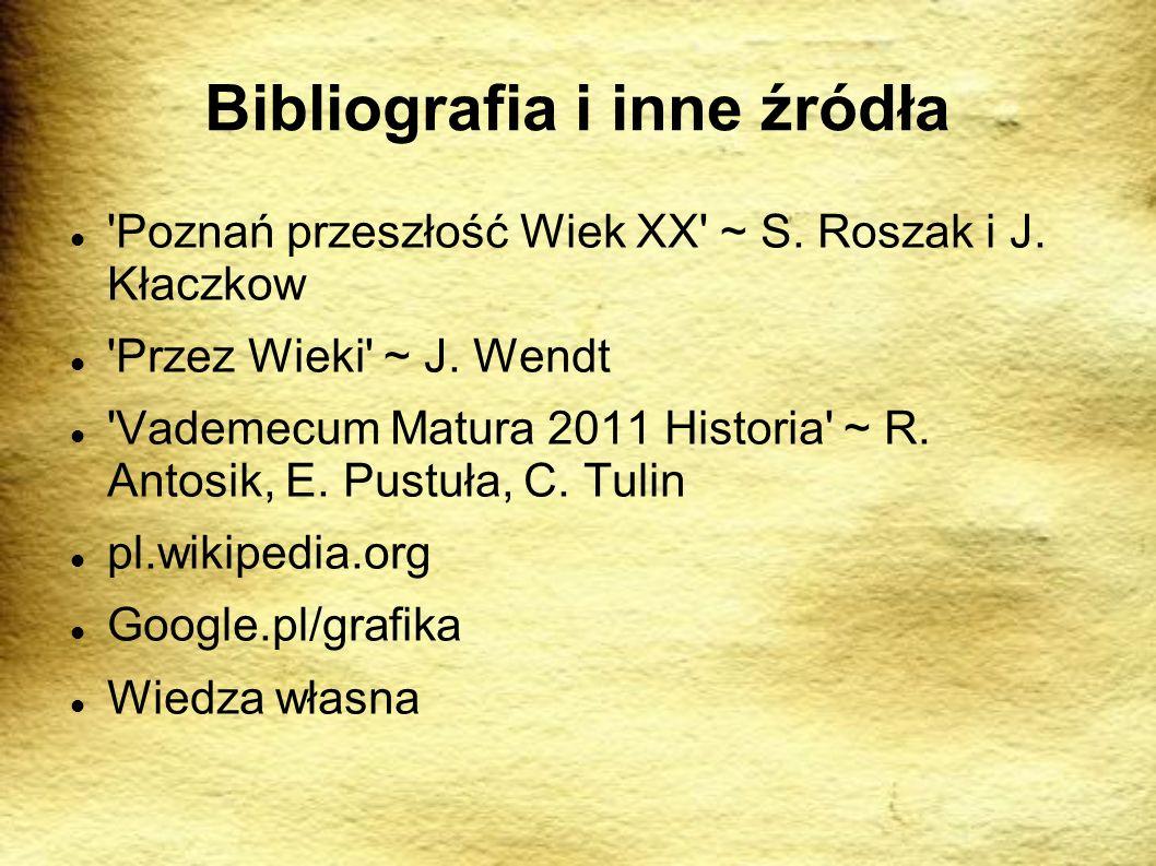 Bibliografia i inne źródła