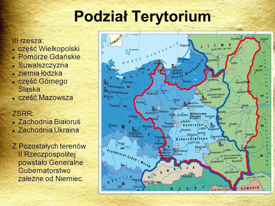 Podział Terytorium III rzesza: część Wielkopolski Pomorze Gdańskie