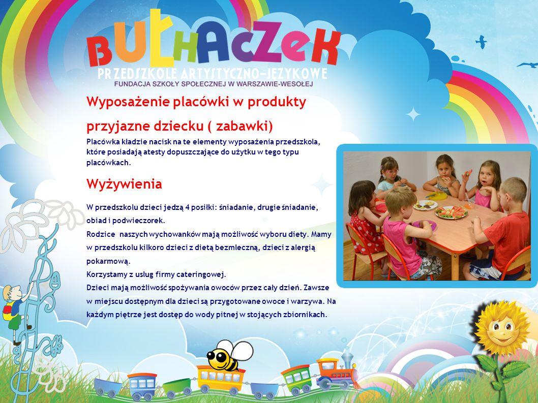 Wyposażenie placówki w produkty przyjazne dziecku ( zabawki)