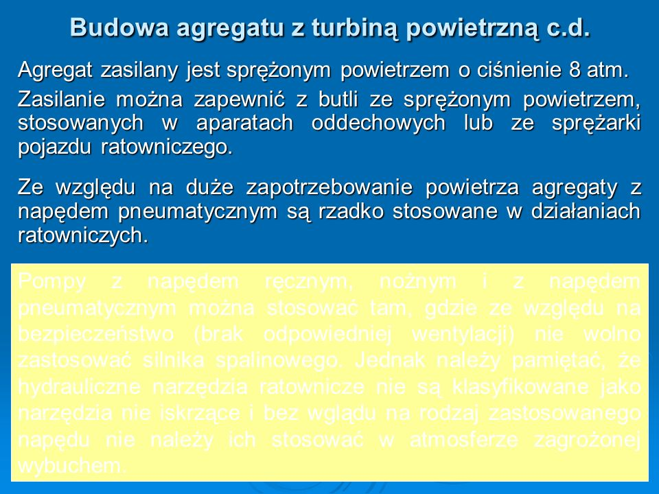 Budowa agregatu z turbiną powietrzną c.d.