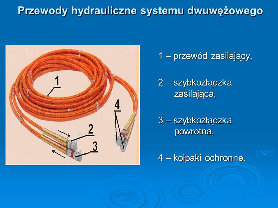 Przewody hydrauliczne systemu dwuwężowego