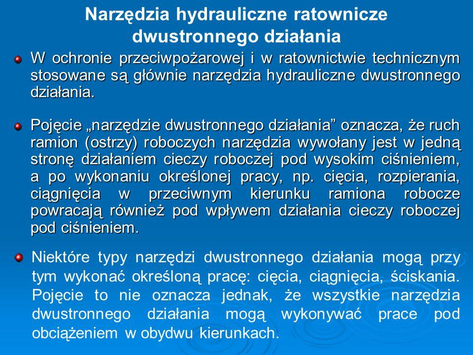 Narzędzia hydrauliczne ratownicze dwustronnego działania