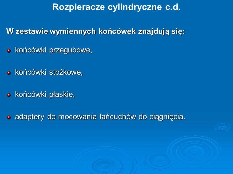 Rozpieracze cylindryczne c.d.